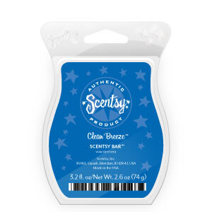 scentsy clean breeze scent